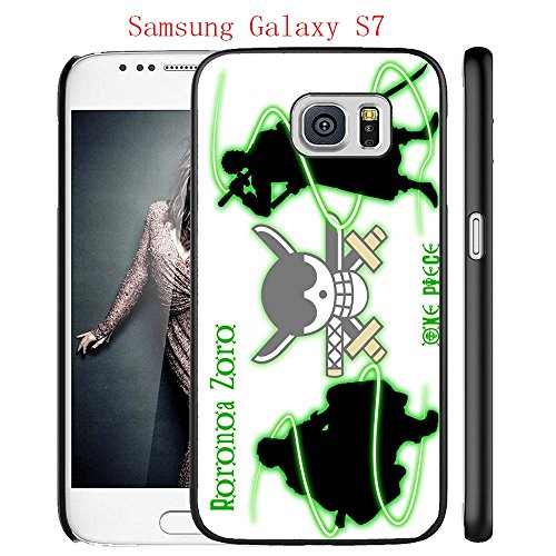Samsung Galaxy S7 Case, Anime One Piece 123 Drop Protection Never Fade Anti Slip Scratchproof Black Hard Plastic Case (Bleach 123)