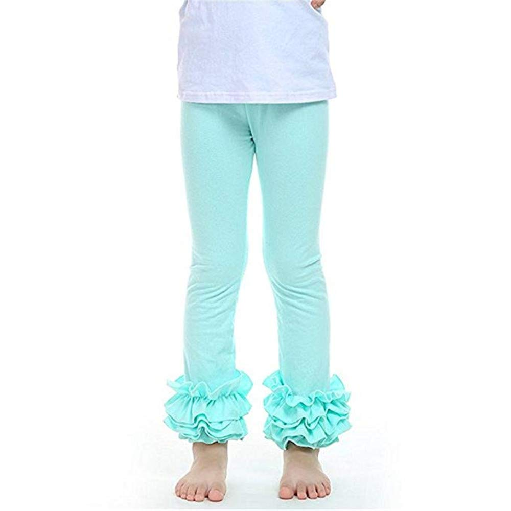 voqoomkl Little Girls Ankle Length Knit Footless Ruffle Tights Leggings