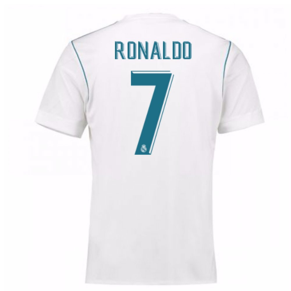 2017-18 Real Madrid Home Shirt Kids (Ronaldo 7) B077YL7JC8 XL Boys 32-34