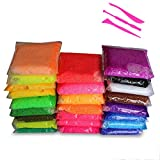 Simuer 24 Pack Snow Mud,Snow Slime Kit Fluffy Floam Slime Snow Clay Fluffy Slime Stress Reliever Stress Relief Toy DIY Colored Clay Gift Party Favors 24 Colors