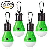 Portable LED Camping Light, T&HOME [4 PACK] Hurricane Supplies LED Tent Lamp For Camping, Backpacking, Hiking, Fishing & Outdoor Portable Camping Equipment | Compact, Water Resistant Gift