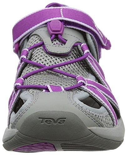 Teva Rosa Ws, Sandalias de Punta Descubierta para Mujer Varios Colores (Grey/dark Purple)