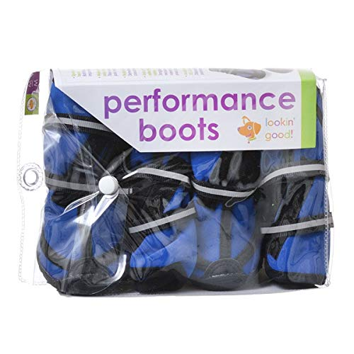 Fashion Pet Performance Waterproof Fleece Dog Boots - Blue (10 Pack)