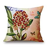 Bestseason Plant Cushion Cases 18 X 18 Inches / 45 By 45 Cm Best Choice For Boy Friend,teens,dining Room,bedding,valentine With Two Sides
