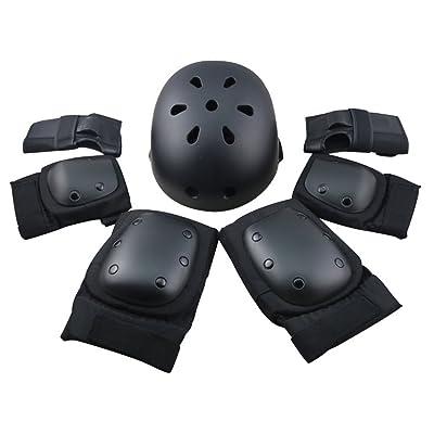 Adulte Jeunesse enfants de protection Gear Set–Casque Coude genou poignet Coussinets pour cyclisme Skateboard Roller Vélo Sports de plein air