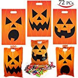 72 Pieces Halloween Jack O Lantern Trick Or Treat Bags for Trick-or-Treating, Halloween Party Favors, Halloween Snacks, Event Party Supplies, Halloween Goodie Bags by Spooktacular Creations