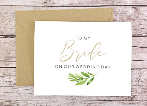 To My Bride On Our Wedding Day Card, To My Bride Card, Wedding Day Card (FPS0060) (Letter To My Dad On My Wedding Day)