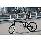 "Image of unYOUsual U arc 20"" Folding City Bike Bicycle 6 Speed Shimano Gear WANDA Tire Reflectors Black"