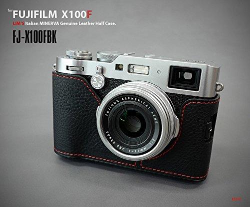 GARIZ Leather Lens Capfix Fuji X100s X100 Leica X2 XA-CFX100BK2 Black