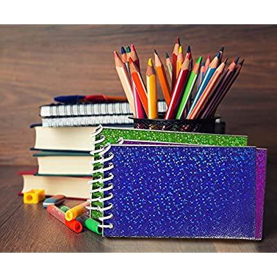 Kicko Mini Spiral Prism Notepads - 12 Pieces of Ruled Composition Spiral Notebooks for Students and Professionals - Journals, Diary, Homework, Scratches, themed Party Favors: Toys & Games
