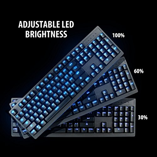 ENHANCE GX-K5 FPS Mechanical Gaming Keyboard with Blue LED Backlighting & TTC Brown Tactile Switches – Great for Counter-Strike: Global Offensive , Overwatch , Call of Duty: Black Ops III & More Games by ENHANCE (Image #2)'