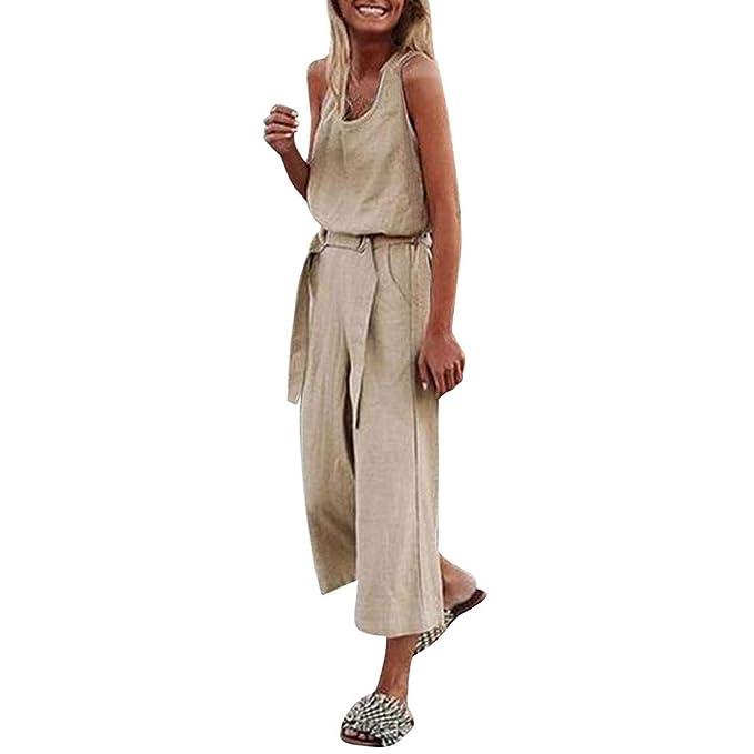 MXJEEIO💖Monos Mujer Verano Pantalones Largos Vestir 2019 ...