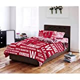 NCAA University of Wisconsin Badgers Bed in a Bag Complete Bedding Set (Full)