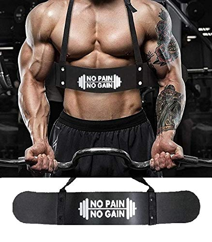 TIMA Black Weightlifting Arm Blaster Adjustable Aluminum Bodybuilding Bomber Bicep Curl Triceps Muscle Training Fitness Gym Equipment