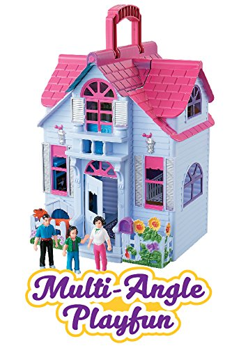 My Sweet Home Fold And Go Pretend Play Mini Dollhouse With Furniture And Accessories Buy