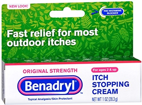 Cream Stopping Itch (Benadryl Itch Stopping Cream, Original Strength, 1 Ounce (Pack of 2))