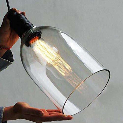 Large Glass Pendant Light Shade - 7