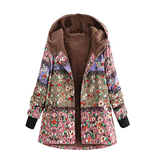 XOWRTE Women's Vintage Oversize Printed Coat Hooded for sale  Delivered anywhere in USA