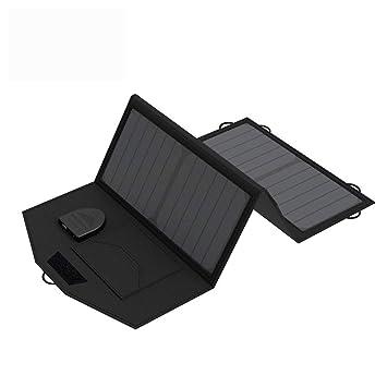 KANGLE Cargador Panel Solar 21W con 2 Puertos 5V 2A USB ...