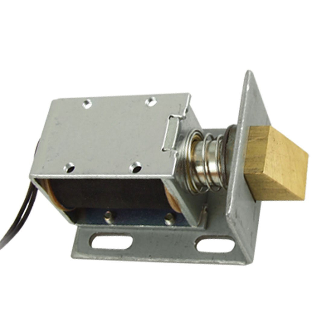 Uxcell Dc 12v Open Frame Type Solenoid For Electric Door Motor Diagram As Well Access Control Contact Electrical Lock Home Improvement
