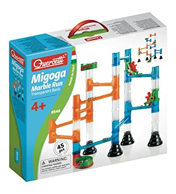 Quercetti 45-piece Transparent Marble Run - Marble Run Construction Toy from International Playthings