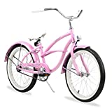 Firmstrong Urban Girl Single Speed Beach Cruiser Bicycle, 20-Inch, Pink