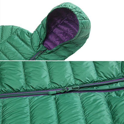 Rokka&Rolla Boys' Ultra Lightweight Hooded Packable Puffer Down Jacket (M (8), Verdant Green) by Rokka&Rolla (Image #4)