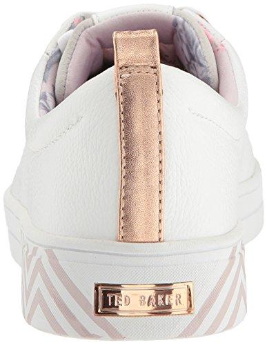 Sneaker Pelle Femminile Bianca Kelleip In Ted Baker watqBF