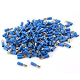 200pcs FDD2-187 2.3mm Bolt Blue Pre Insulated Spade Crimp Terminals