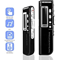 Voice Recorder, Digital Voice Recorder, MONOLED Professioal 8GB Digital Audio Voice Recorder Dictaphone with MP3 Player, Double Noise Reduction Microphone and LCD Screen