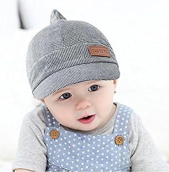 457773b21742 LONTG Baby Boys Girls Cotton Cap Hat Beret Beanie Hat Baseball Cap Peaked  Cap Bonnet Plaid