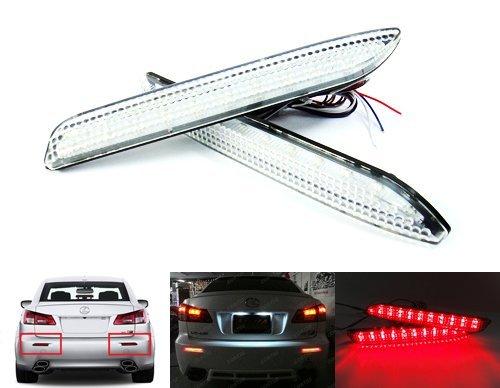 - LEDIN Clear Lens LED Bumper Reflector Tail Brake Stop Light Toyota Matrix Venza Sienna