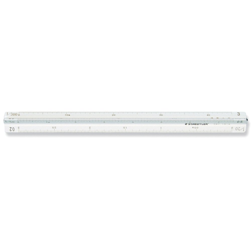 Staedtler high precision all-aluminum pocket type triangle scale architect for 15cm 987 15-6 (japan import) by Staedtler