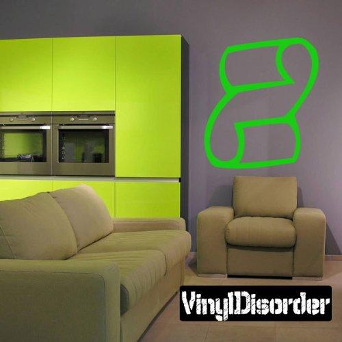 """Vinyl Disorder scrollsMC129 Scrolls Car Wall Decal, 36"""", Bla"""
