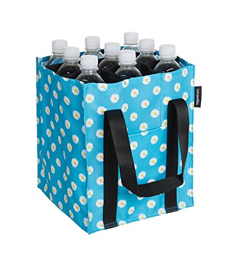AmazonBasics Bottle Bag - 9 compartments - Printed Blue