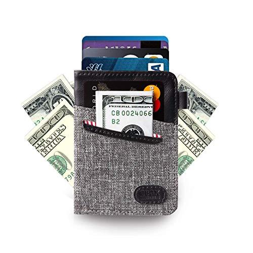 Minimalist Slim Wallet- Front Pocket Credit Card Holder with Cash & Key ()
