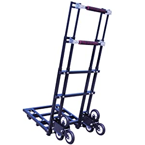 Mecete Enhanced Stair Climbing Cart Portable Climbing Cart 460 lb Largest Capacity All Terrain Stair Climbing Hand Truck Heavy Duty with 6 Wheels for Carrying Refrigerator, Sofa and Large Furniture