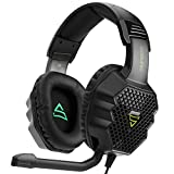 SUPSOO Over- Ear Stereo Bass Gaming Headset G811 With Microphone Noise Islolation Multi-Platform Gaming Headphones for PS4 ,New Xbox one, Laptop, Mac, iPad,Phone, 3.5mm headset port ,black