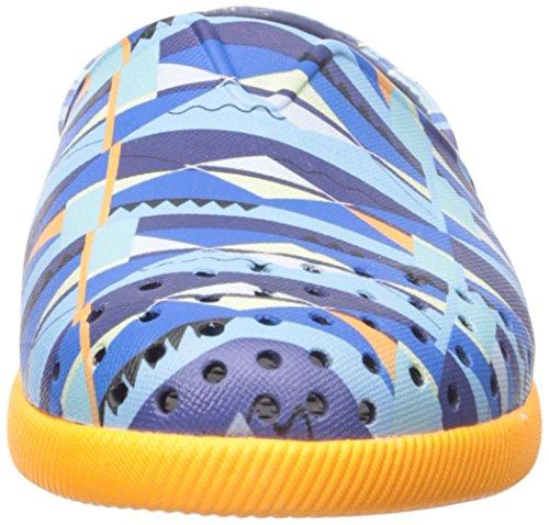 Native Verona Print Junior Slip On Sneaker (Little Kid), Regatta Blue/Begonia Orange/Biggie Print, Little Kid