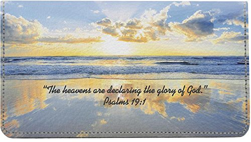 Inspirational Psalms Leather Checkbook - Checkbook Cover Leather Angels