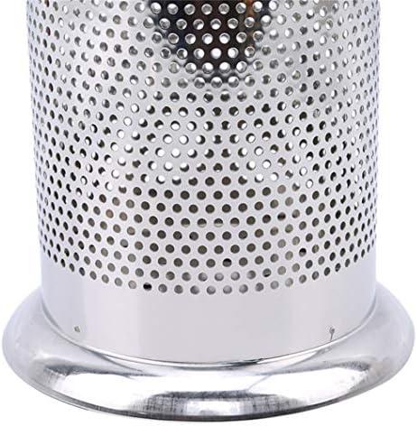 INSEET Drainage Edelstahl Küchenbesteck Aufbewahrungsschlauch Halter Kosmetik Aufbewahrungsbox (Stil 2)