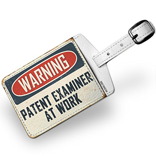 Luggage Tag Warning Patent Examiner At Work Vintage Fun Job Sign - - Patent Luggage Tag
