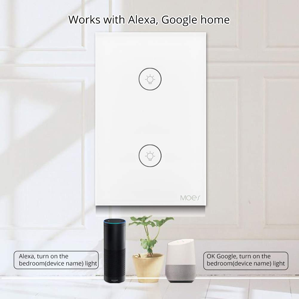 Wifi Smart Wall Touch Light Switch Glass Panel Wireless Remote Wiring Diagrams Additionally Ship Navigation Control By Mobile App Anywhere Compatible With Alexa Timing Function No Hub Required