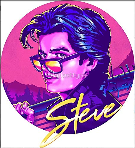 Edwin Group of Companies Steve Harrington Stranger Things Car Decal Size 4 Patch Laptop Phone Steve Harrington Stranger Things Window Banner
