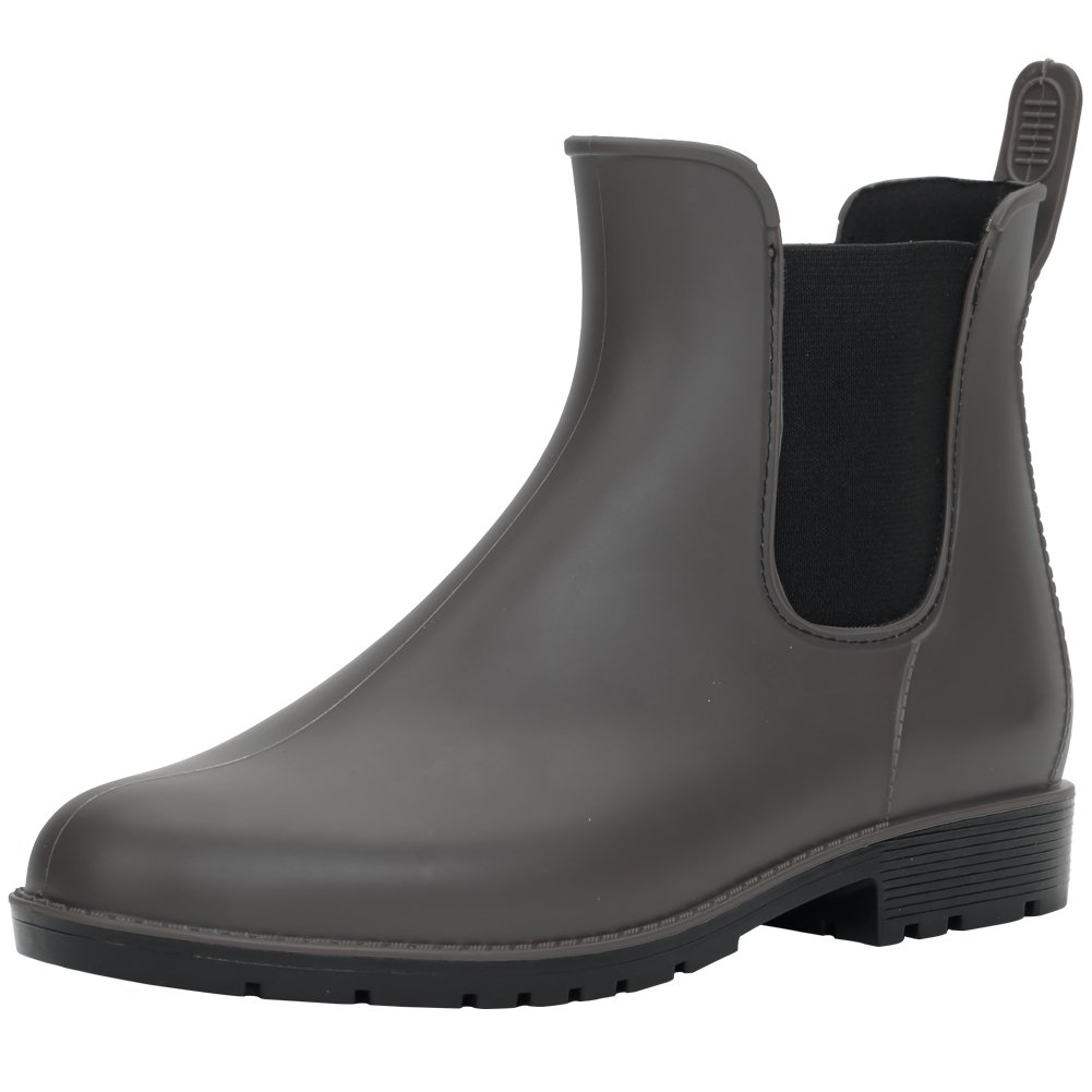 Hellozebra Anti-Slip Ladies' Rain Boots PVC Boots Fashion Rain Shoes Elastic Type Shoes Women's Boots HZP003-US