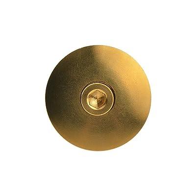 Titanium Bicycles 1 1//8/'/' Stem Headset Top Cap Cover 28.6mm+M6x35mm Ti Bolt Gold