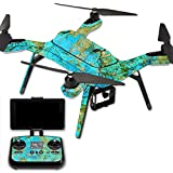 MightySkins Protective Vinyl Skin Decal for 3DR Solo Drone Quadcopter wrap cover sticker skins Teal Marble