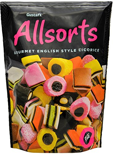English Style Licorice Allsorts - 7oz Stand Up Bag