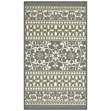 Maples Rugs Kitchen Zoe 1'8 x 2'10 Non Skid Washable Throw Rugs [Made in USA] for Entryway and Bedroom, Grey