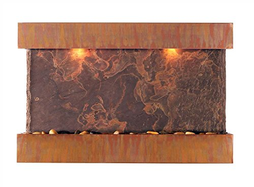 BluWorld Horizon Falls Indoor Wall Fountain - Medium (Copper Indoor Fountain Wall)